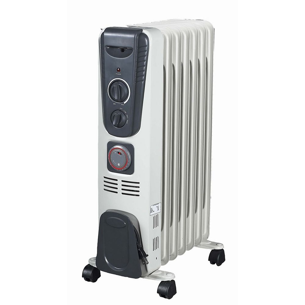 Oil filled radiant space heater